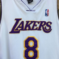 2001 Los Angeles Lakers #8 Kobe Bryant authentic white alternate nike jersey size 52 XXL