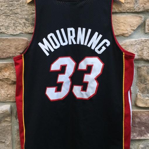 vintage Alonzo Mourning Miami Heat Nike swingman NBA jersey size XL