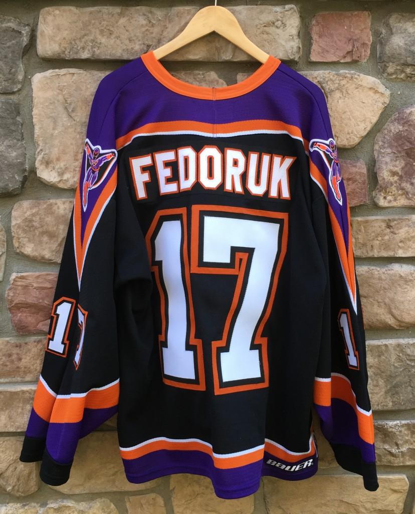 2004-05 Todd Fedoruk Philadelphia Phantoms AHL hockey jersey size xl flyers fec86ef02