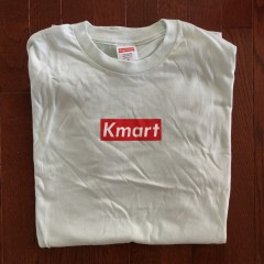 Rare Vntg Kmart Supreme bootleg box logo shirt friends family t shirt sea green