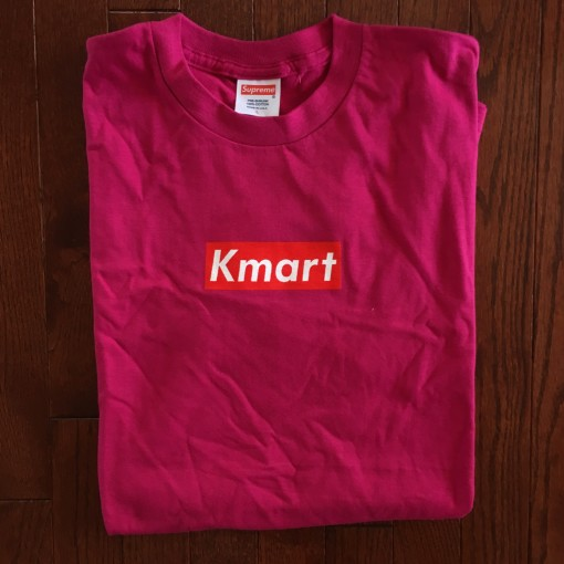 Rare Vntg Kmart Supreme bootleg box logo shirt friends family t shirt magenta