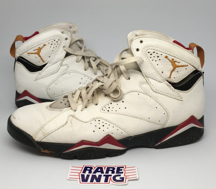 premium selection e5ec6 486cd Original OG 1992 Nike Air Jordan VII 7 Sneakers Cardinal Size 14