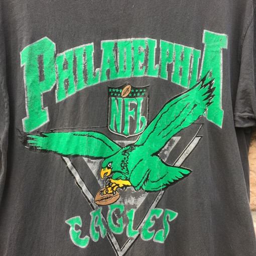 90's philadelphia eagles vintage nfl t shirt hanes size xl kelly green