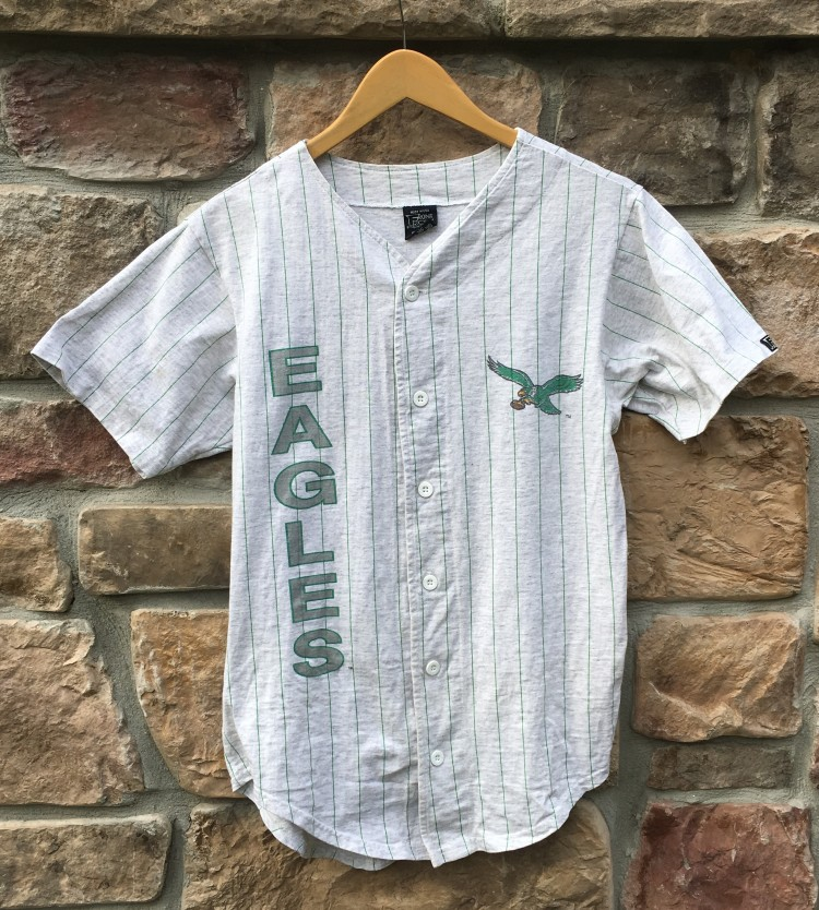 90's Philadelphia Eagles NFL Baseball Jersey Size Small | Rare Vntg  free shipping