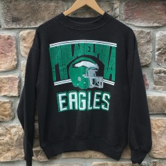 80's Philadelphia eagles black crew neck nfl sweatshirt size medium