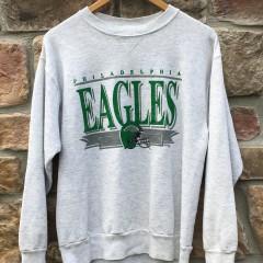90's Philadelphia Eagles chalkline vintage nfl crewneck sweatshirt ash grey
