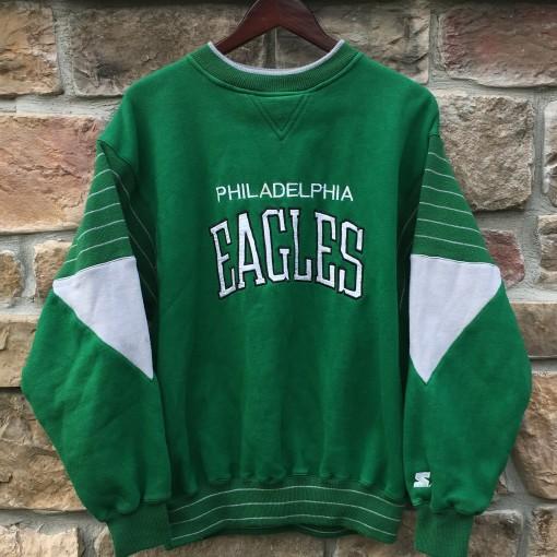80's Philadelphia Eagles Kelly green starter crew neck sweatshirt size large