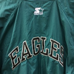 90's Philadelphia Eagles Starter prol line authentic windbreaker jacket size medium