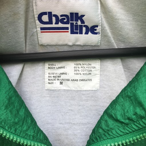 80's Philadelphia Eagles kelly green chalkline windbreaker jacket size medium