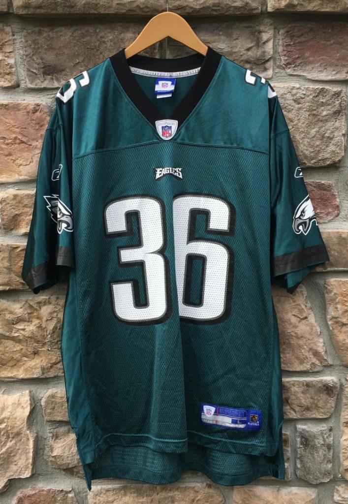 2004 Brian Westbrook Philadelphia Eagles Reebok NFL Jersey Size