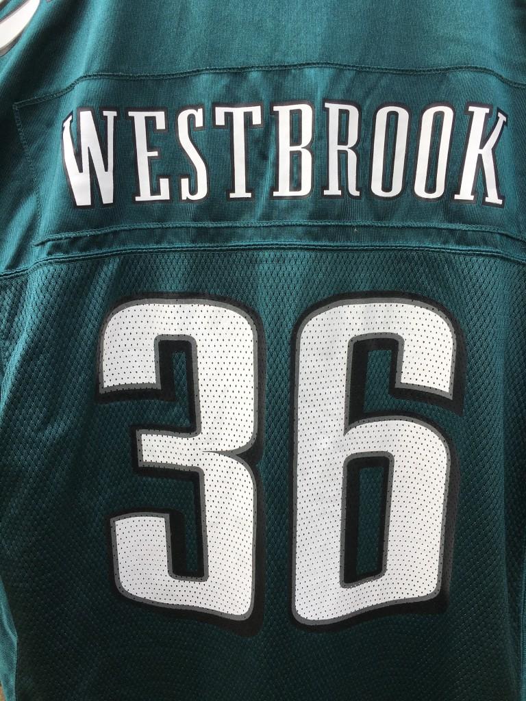 ccbe79eb 2004 Brian Westbrook Philadelphia Eagles Reebok NFL Jersey Size Large