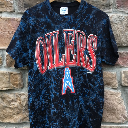 90's Houston Oilers Competitor Oil Spill graphic NFL t shirt size large