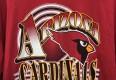 1994 Arizona Cardinals Trench NFL t shirt maroon size XL