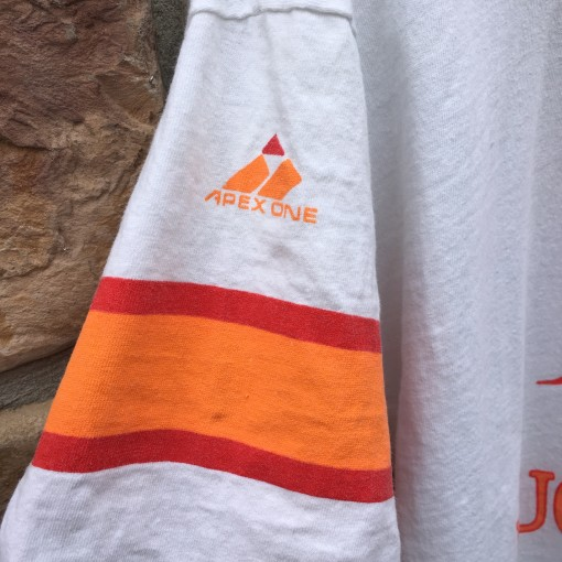 90's Tampa Bay Buccaneers Apex one hooded t shirt size medium white orange