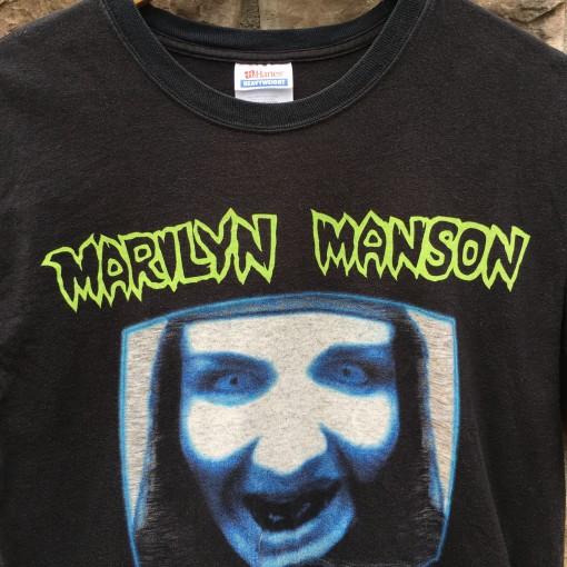 90's Marilyn Manson hanes concert t shirt size medium OG