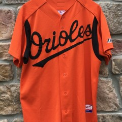 00's Baltimore Orioles authentic Majestic orange batting practice MLB jersey size Medium