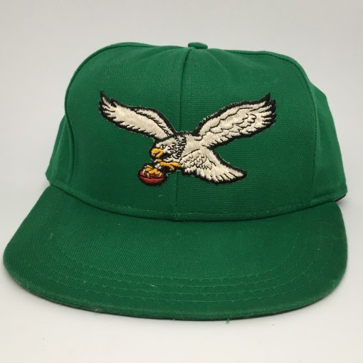 90's Philadelphia Eagles AJD NFL snapback hat OG kelly green