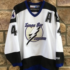 2004 Vincent Lecavalier Tampa Bay Lightning CCM NHL hockey jersey size XL