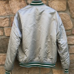 90's Philadelphia Eagles Starter Satin NFL Jacket silver grey size XL