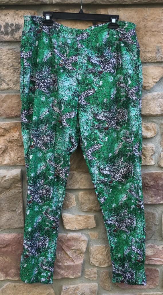 8bb080afa 90's Philadelphia Eagles Apex One All over print kelly green pants size  medium