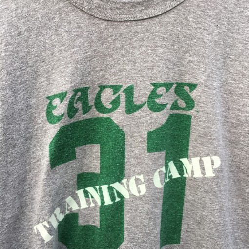 70's Philadelphia Eagles Training Camp #31 Wilbert Montgomery Champion T shirt size medium blue tag