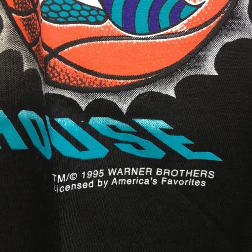 vintage 1995 Charlotte hornets Tasmanian Devil looney tunes nba powerhouse magic johnson nba tee shirt size medium