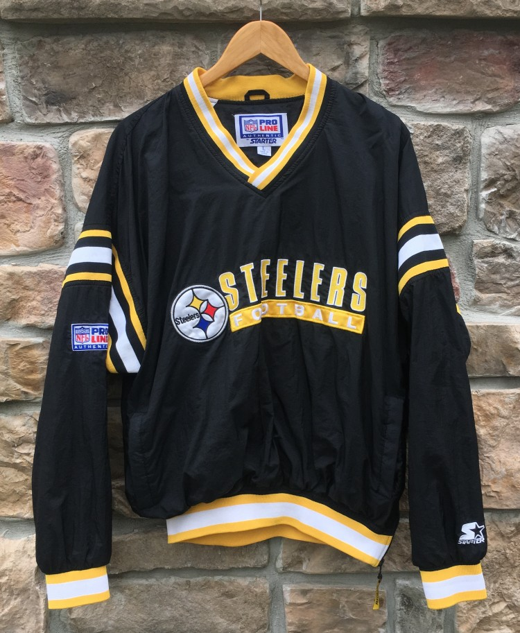 check out 8db41 9b948 90's Pittsburgh Steelers Starter Pro Line NFL Windbreaker Jacket Size Large