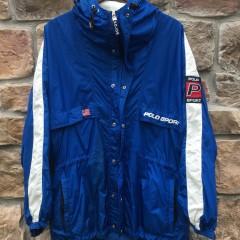 90's Polo Sport USA Blue/White jacket size medium