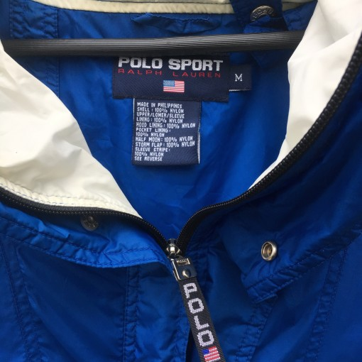 90's Polo Sport USA Blue/White jacket size medium