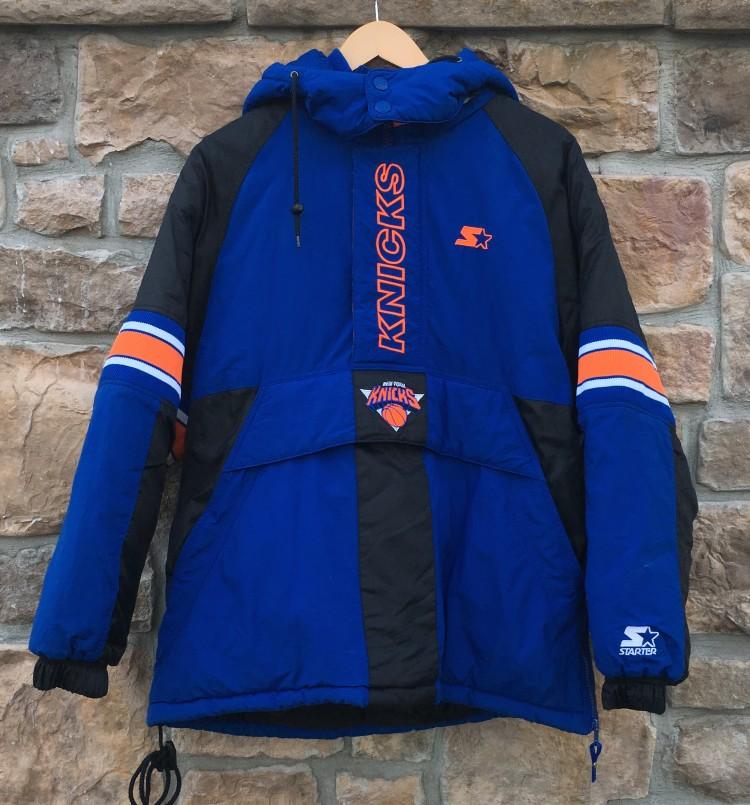 ba5d1f9cb45 90's New York Knicks Starter heavyweight NBA pullover jacket size small