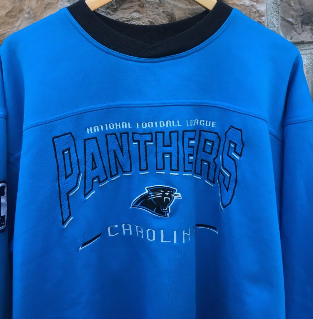 ad666634 90's Carolina Panthers vintage Lee nfl crewneck sweatshirt size large  powder carolina blue