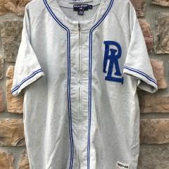 90's Polo Ralph Lauren Polo Sport Baseball Jersey #9 grey deadstock