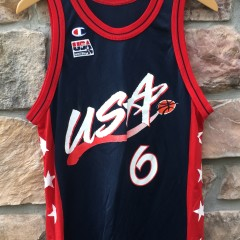 353d1def310 1996 Penny Hardaway Team USA Champion Basketball jersey olympics size medium