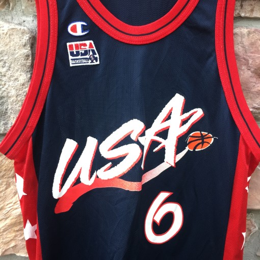 1996 Penny Hardaway Team USA Champion Basketball jersey olympics size medium