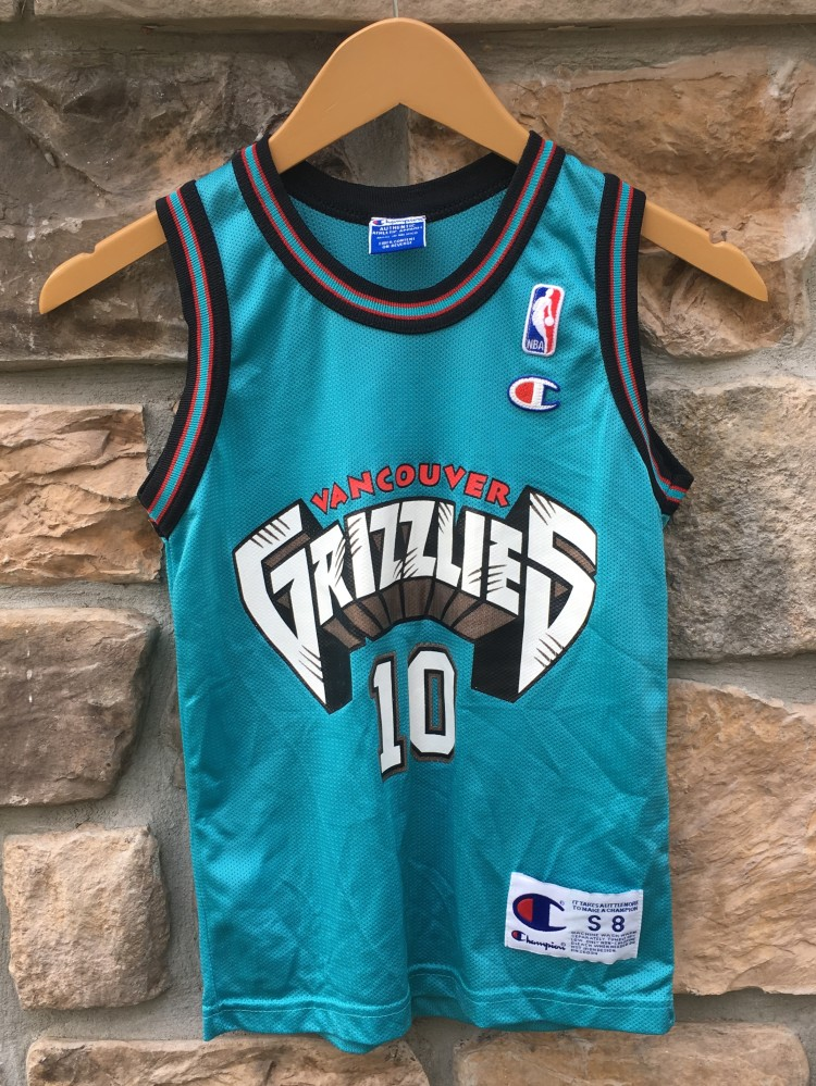 8a7ba0860 90 s Mike Bibby Vancouver Grizzlies Champion NBA jersey youth size small