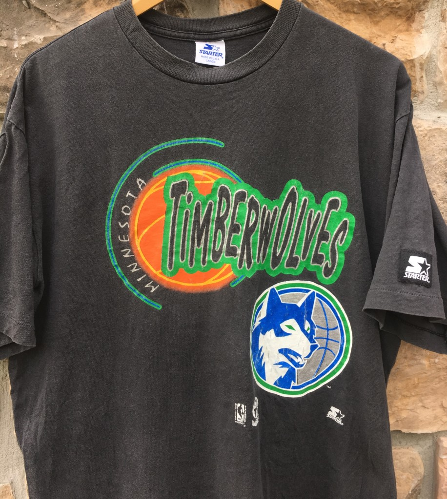 7e174663b early 90 s Minnesota Timberwolves Starter NBA T shirt size Large