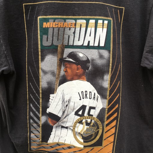 90's Micheal Jordan Nike competitive spirt baseball t shirt white sox barons size large
