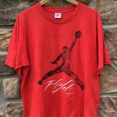 1989 Nike Air Jordan Flight T shirt red jordan iv size large