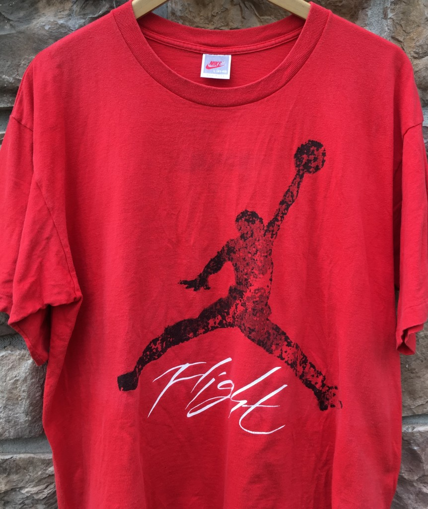 1fea4d9a243 1989 Nike Flight Michael Jordan T Shirt Red Size Large | Rare Vntg