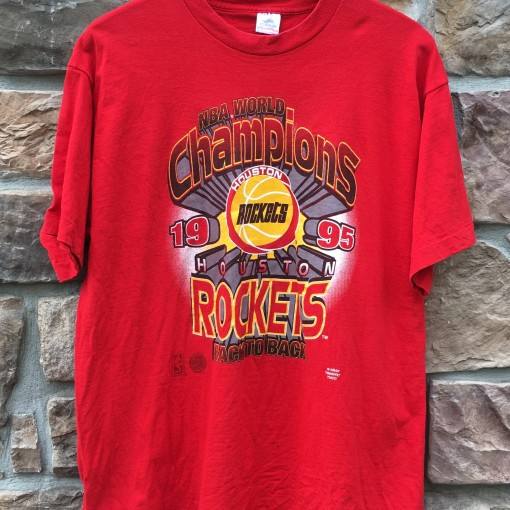 Houston Rockets Championship Roster: 1995 Houston Rockets Back 2 Back World Champions NBA T