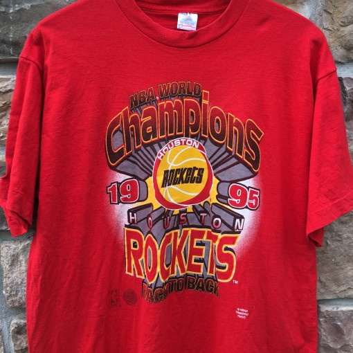 1995 Houston Rockets back to back nba champions t shirt size XL