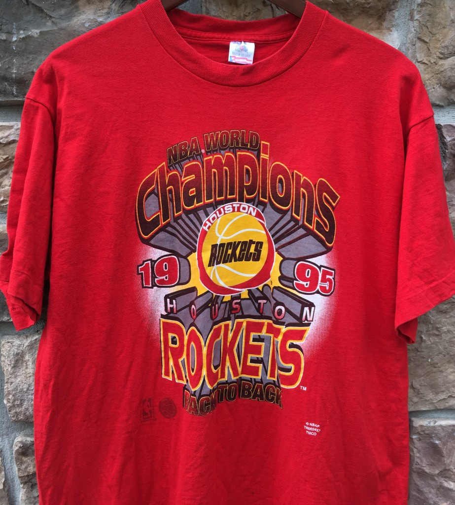 Houston Rockets Nba Championships: 1995 Houston Rockets Back 2 Back World Champions NBA T