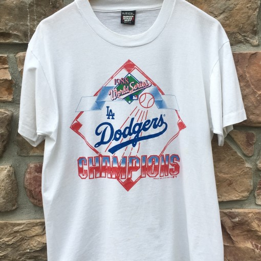 1988 los Angeles Dodgers World Series champions screen stars MLB t shirt size XL