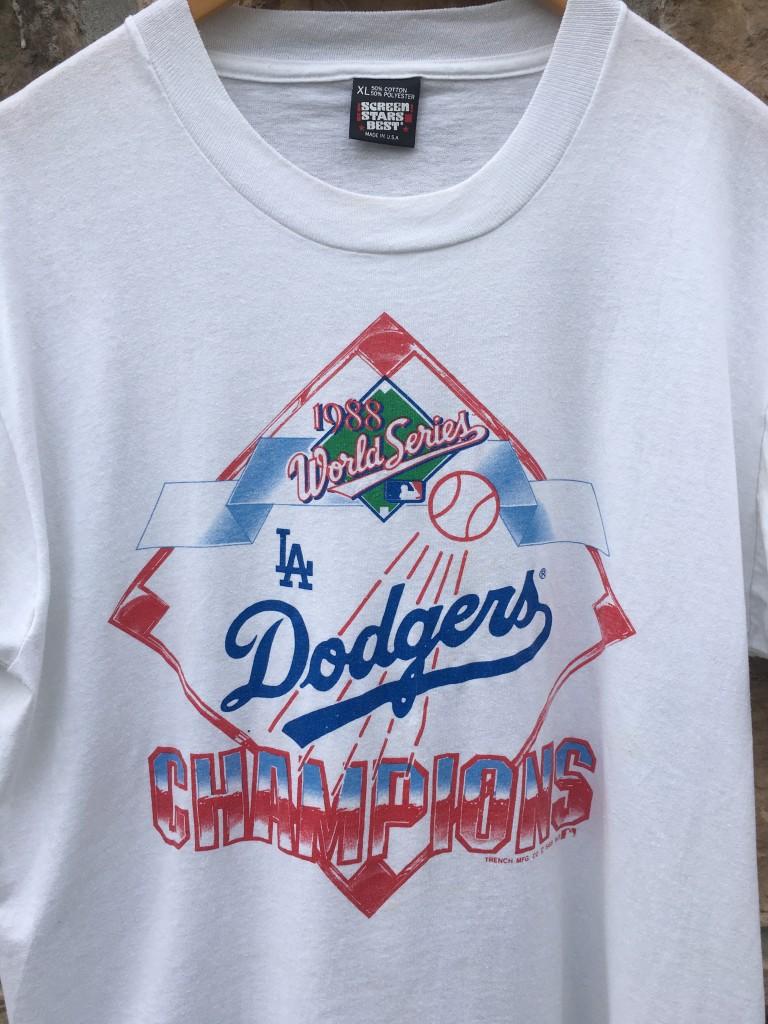 845694cd3fb 1988 los Angeles Dodgers World Series champions screen stars MLB t shirt  size XL