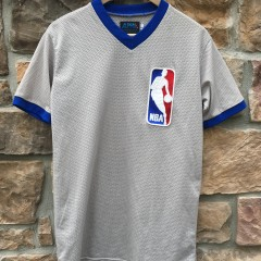 80's NBA Game worn referee uniform jersey grey #45 size large