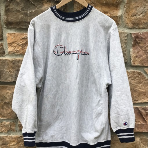 90's Champion Reverse Weave sweatshirt size XL grey
