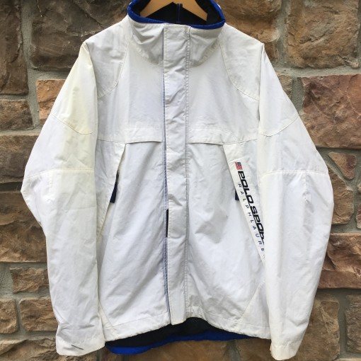 deadstock vintage 90's Ralph Laure Polo Sport windbreaker jacket size XL