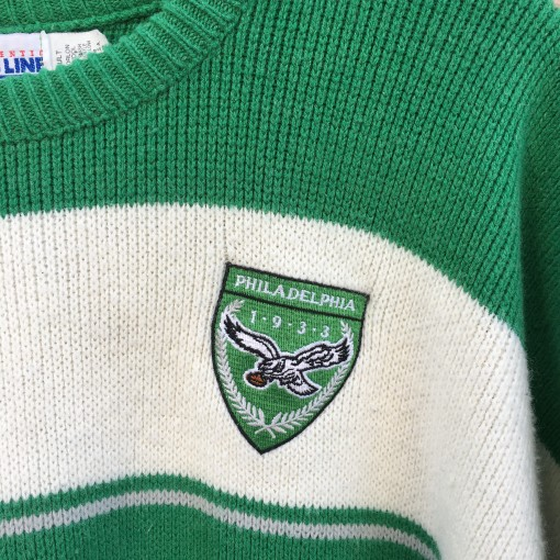 80's Philadelphia Eagles Cliff Engle pro line NFL crew neck sweater size large