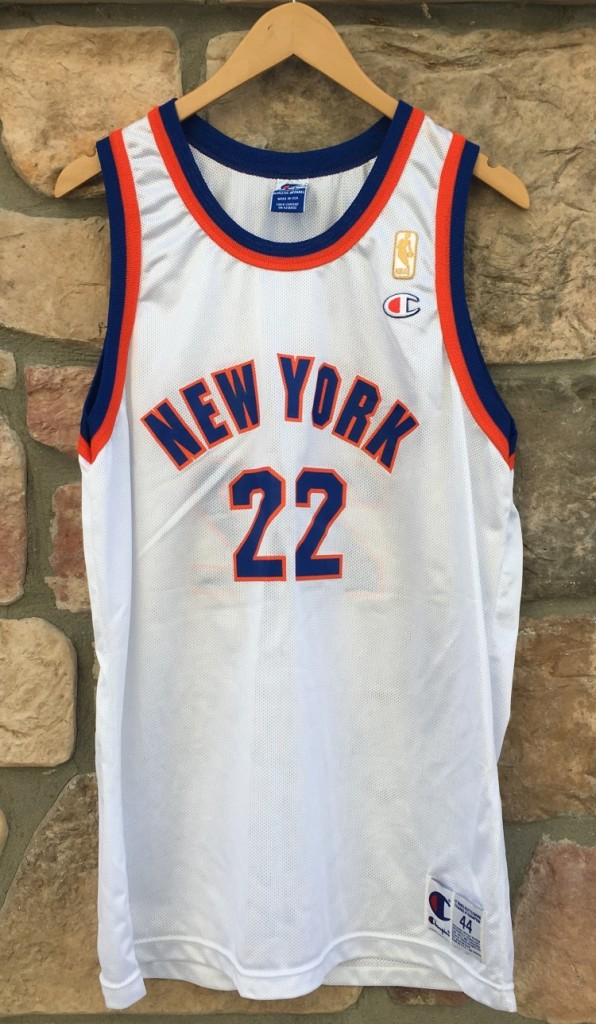 22c09a694e772b 1997 Dave Debusschere New York Knicks 50th anniversary NBA Champion jersey  size 44 large