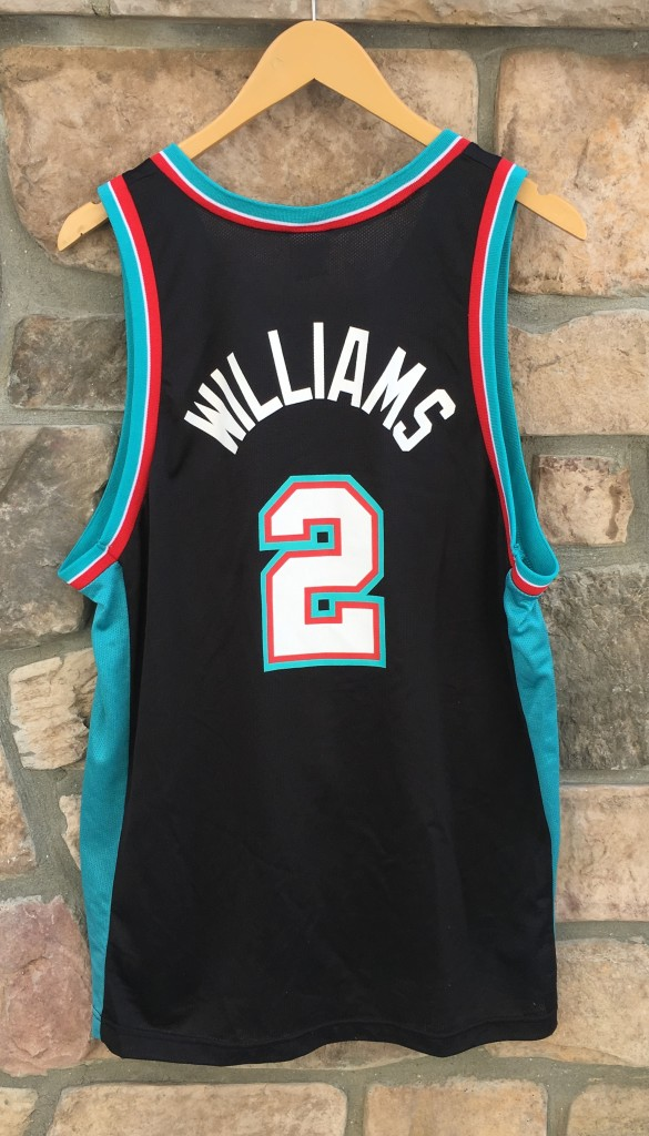 04ee9e435 2001 Jason Williams Memphis Grizzlies Champion NBA jersey size 44 large